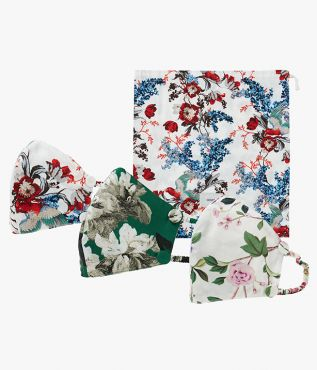 Multi face mask and pouch set from Erdem