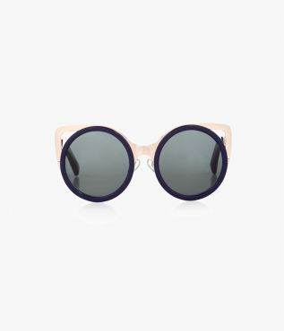 Navy & Gold Cat Eye Sunglasses
