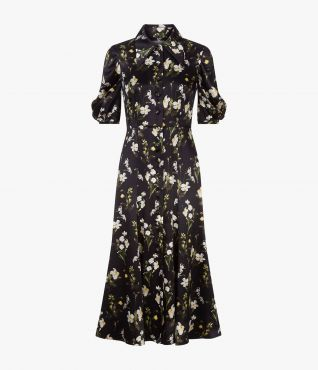 Gisella Dress Daffodil Ditsy Silk by Erdem