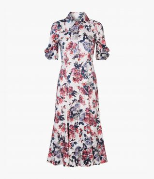 Gisella Dress Rose Satin Jacquard by Erdem
