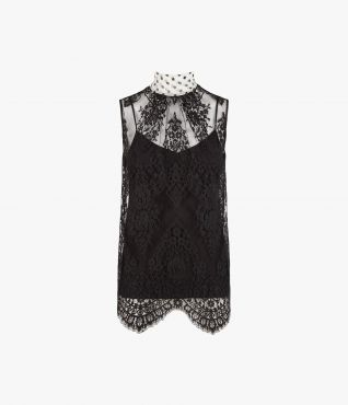 Koren Top Lace Silk Dot Voile by Erdem