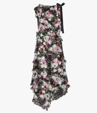 Zandra Dress Clarence Dot  - Erdem.com
