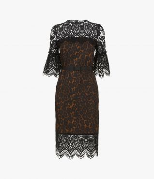 Kiya Dress Leopard Twill PS20 by Erdem
