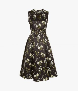 Farrah Dress Beaded Daffodil Ditsy by Erdem