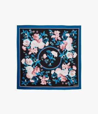 Small Square Silk Scarf Dusk Bouquet PS20 by Erdem