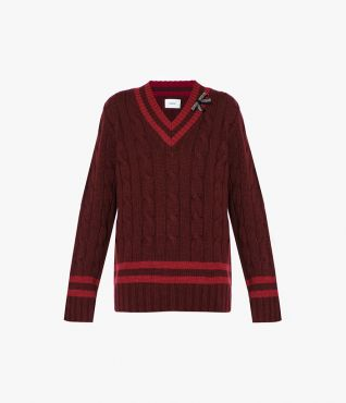 Shaped for a relaxed, oversized fit, the Albertha Jumper is spun from lambswool in a chunky cable-knit.