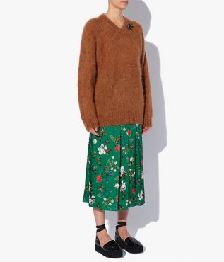 Annamae Jumper knitted from a tactile blend of mohair and wool in timeless camel.