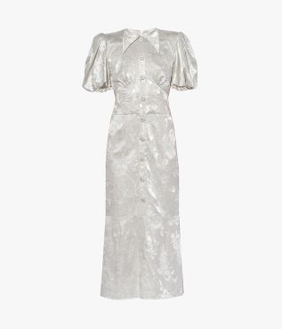 Erdem Antonetta Dress Jacquard Fil Coupe
