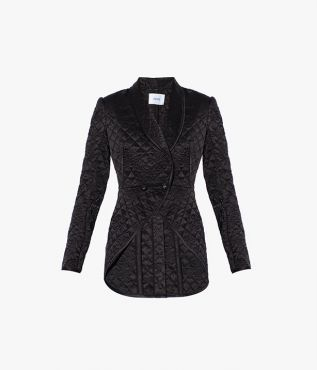 Edmee Jacket Ashcombe Quilted Satin Black
