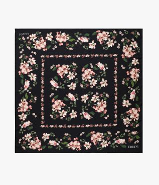 Introduce Erdem's iconic florals to your accessories repertoire with this square silk scarf.