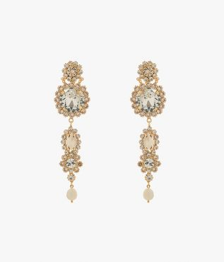 Erdem's statement grey crystal drop earrings will add a little theatricality to your after-dark looks.
