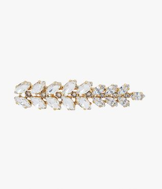 Lend simple hairstyles added interest with this barrette from designer brand Erdem.
