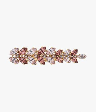 Give understated hairstyles added interest with this crystal hair barrette from Erdem.