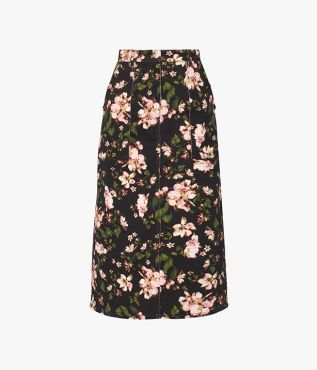 Work Erdem's signature florals into your off-duty wardrobe with the Artie Skirt cut from stretch denim.