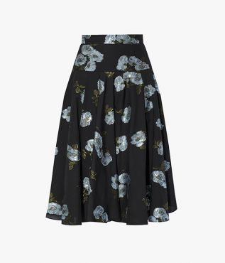 Introduce subtle texture to your repertoire with the floral-print Starla Skirt, cut from cotton fil coupe.