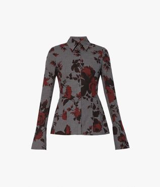 Introduce dark florals to your autumn winter wardrobe with the Bella Blouse from Erdem.