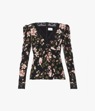 Incorporate this season's Margot Posy print – inspired by the ballerina Margot Fonteyn – into your wardrobe with the Blake Blouse.