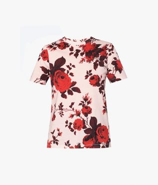 The Hettie T-Shirt is updated for the new season in the Fonteyn Rose print.