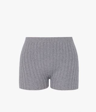 Kinsley Shorts crafted from a super soft blend of merino wool and cashmere in grey.