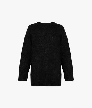 Bartley Jumper Wool Mohair Knit Black