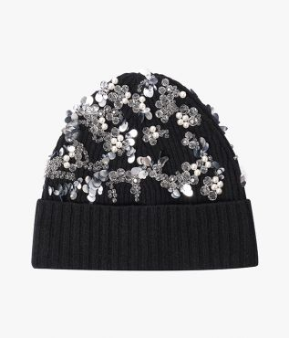 Beaded Beanie Hat Erdem