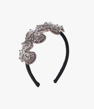Beaded Flower Headband Erdem