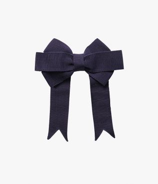 Navy Bow Hair Tie