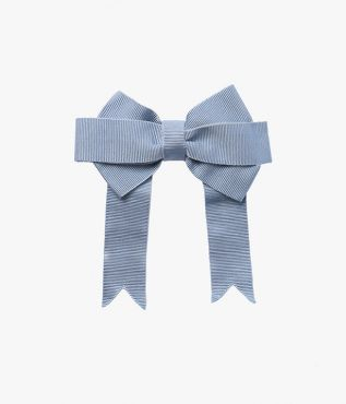 Pale-Blue Bow Hair Tie