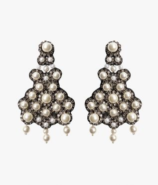 Erdem Cluster Crystal Sphere Earrings