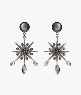 Erdem Grey Crystal Star Earrings