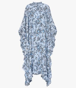 Erdem Darence Dress Graphic Vine Crepe de Chine