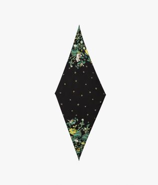 Erdem Diamond Scarf Aschcombe Forest Silk Satin