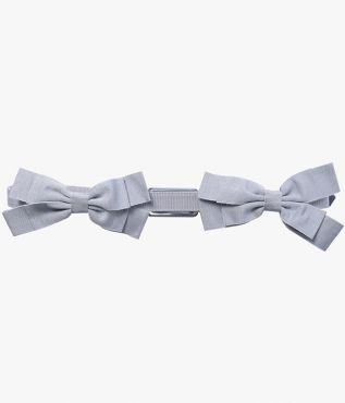 Erdem Pale-Blue Double Bow Belt
