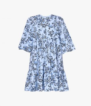 Edison Dress Graphic Vine Poplin