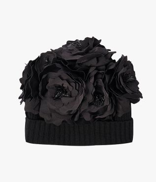 Erdem Rose Embellished Beanie Hat