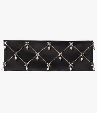 Erdem Pearl Drop Beaded Cummerbund Silk Satin