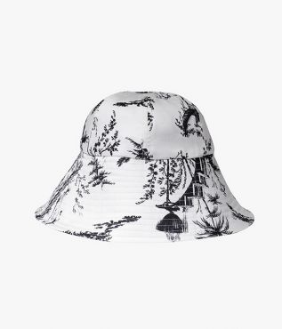 Erdem Hat and Pouch Set Ernest White Poplin