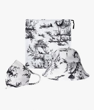 Hat, Mask and Pouch Set Ernest White Poplin