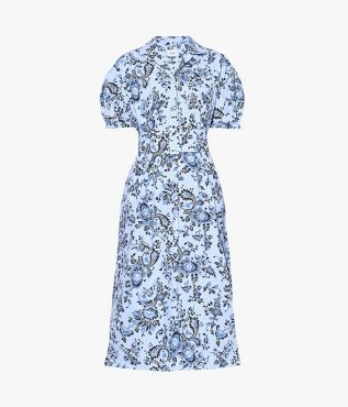 Erdem Frederick Dress Graphic Vine Cotton Poplin
