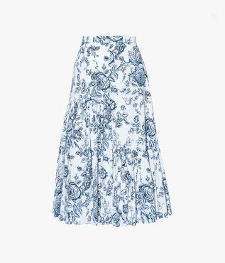 Gaura Skirt Toile de Jouy Cotton Poplin