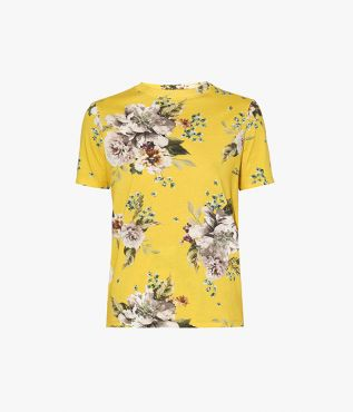 Erdem Hettie T-Shirt Carnation Bouquet Cotton