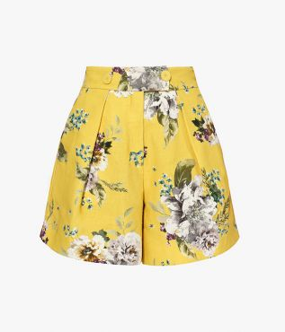 Howard Shorts Carnation Bouquet Cotton Canvas