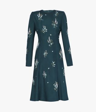 Ivor Dress Sowerby Beaded Crepe De Chine