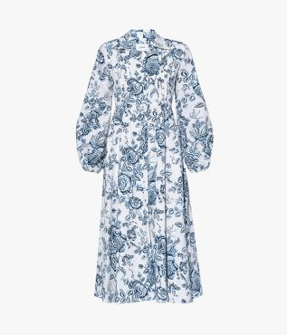 Kendrick Dress Toile de Jouy Cotton Poplin