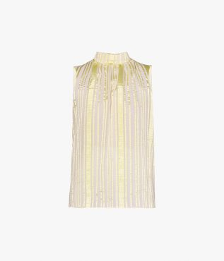 Introduce summertime pastels to your wardrobe via the Koren Top in pale yellow.