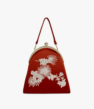 Bold red eveningwear bag from Erdem's pre fall collection.