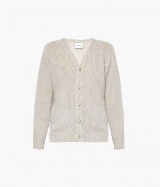 Marcilly Cardigan Mohair Knit Ivory