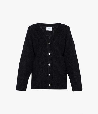 Erdem Marcilly Cardigan Mohair Knit Black