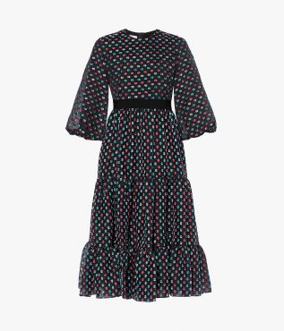 Meraud Dress Polka Dot Organza Fil Coupe Erdem