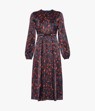 Mills Dress Etched Satin Erdem
